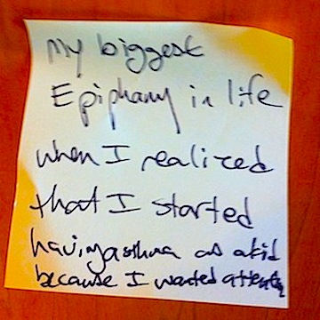 Post-it Epiphany - Asthma for Attn.