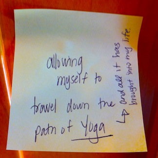 Post-it Epiphany - Path to Yoga